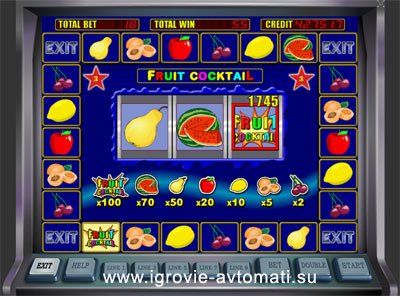 ...Fruit Cocktail видео слот игровой автомат Фруктовый коктейль без...